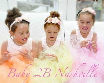 Wedding Dress Skirt  Flower Girl Tutu Skirt  Girls Tulle Skirt Baby Skirt Toddler Tutu Skirt Pink Skirt Peach Skirt Yellow Skirt Any Color
