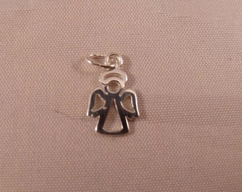 15 mm Angel Charm Pendant 925 Sterling Silver British Made #s4