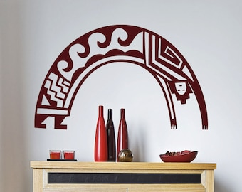 "Native American Wall Decal "" Arching Man"" -  Vinyl Sticker- (44"")"