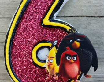 Angry Bird Birthday candle
