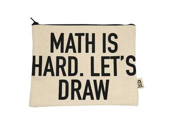 Mathe ist schwer ziehen wir Beutel