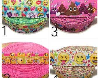 Emoji Ribbon,Smiley Ribbon,Emoji Grosgrain Ribbon,Smiley Face Ribbon,Emoji Faces Ribbon by the Yard,Emoji Party Ribbon,Emoticon Ribbon