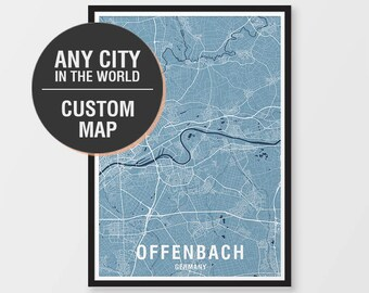 Custom world map etsy custom map print any city in the world city print any location gumiabroncs Image collections