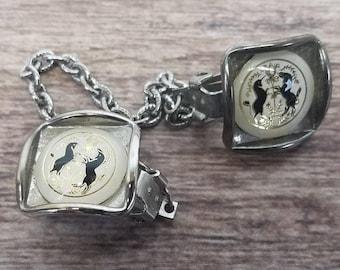 Vintage Pennsylvania Dutch Hex Jewelry  Amish Hex Sweater clip  Vintage unicorn sweater clip  Amish unicorn hex  Vintage jewelry