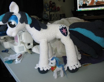 Shining Armor Plush Crocheted Amigurumi