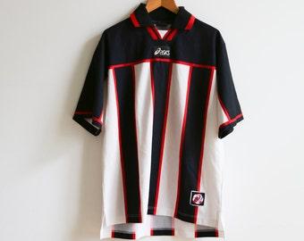 Vtg Asics Soccer Jersey size M