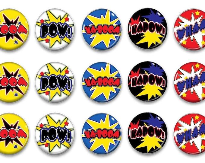 Superhero Magnets - Superhero Reward Chart Magnets- Preschool Activity - Potty Training - Tic tac toe - Fine Motor Skills - Play Mat Set