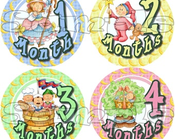 Baby girl Monthly stickers Baby Shower gift 1- 12 Month stickers Infant Milestone sticker Age stickers Baby Girl belly stickers decals