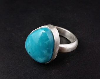 Pilot Mountain Thick Turquoise Ring Size 9.5