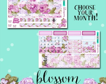 Planner Stickers | Monthly Planner Stickers | Botanical Planner Stickers | Blossom Monthly Kit