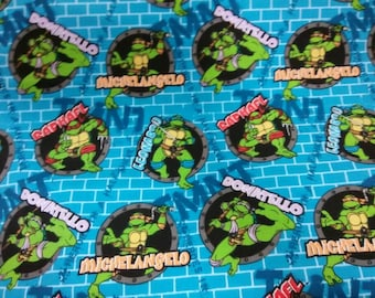 TMNT Fabric By the Yard BTY from 1/4yd, Fat Quarter to Full Yards 100% Cotton for Crafts, Quilting Teenage Mutant Ninja Turtles