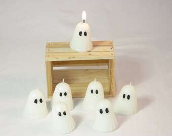 Votive Ghost Candle, Halloween Ghost Decoration, Cute Votive Candles For Fall Decor, You Choose your Scent, Halloween Candle, Fall Candle