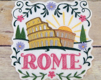Rome Colosseum Iron On Embroidery Patch MTCoffinz - Choose Size