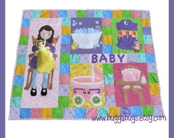 Interactive Doll Quilt - PDF Sewing Pattern (Quilt and Baby Doll)