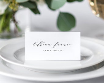 Editable Template - Instant Download Soft Calligraphy Guest Place Cards
