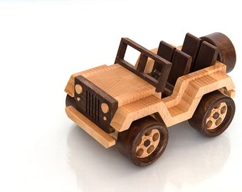 FrostyYCrafts Wooden Toy Car Jeep Wrangler
