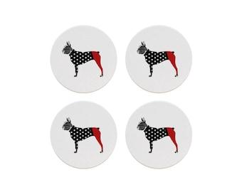 Boston Terrier Coaster Set