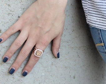 Monogrammed Stackable Ring, Engraved Ring, Stacked Ring, Gift for Her