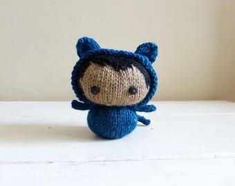 Cute stuffed animal, baby doll, cat stuffed animal, ready to ship - Kitty Baby Bea
