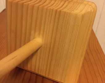 Natural Hand Finished Square Top Whorl Drop Spindle