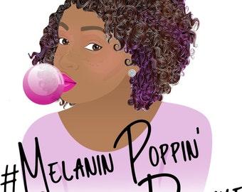 Melanin poppin Afro