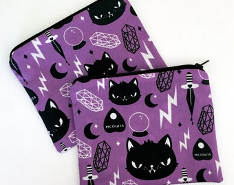 Cat Magic Zipper Pouch - Coin Purse