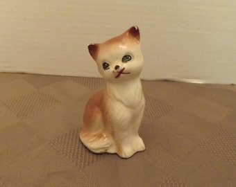 "3"" Tan & White Cat - Japan"
