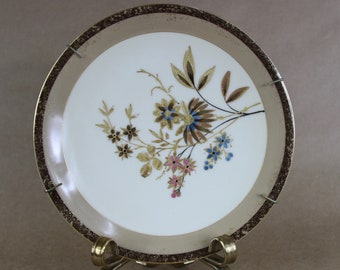 Antique Limoges G D & Cie Demartine Gold Rimmed and Decorated Plate