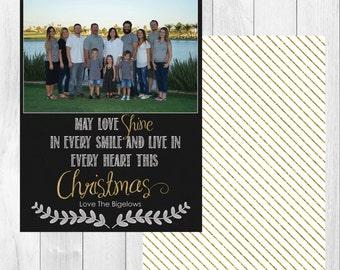 """Photo Christmas Card: May Love Shine // 5x7"""" printable"""