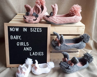Bunny slippers for girls and ladies