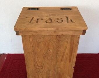 Trash Bin, Wooden Trash Bin, Kitchen Trash Bin, Country Decor, Farmhouse  Decor