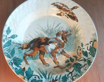 Dish in opaque porcelain of GIEN 1900's
