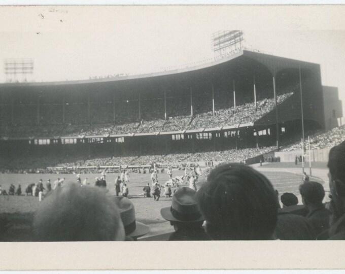 Navy vs. Notre Dame, October 30, 1943: Vintage Snapshot Photo [81644]