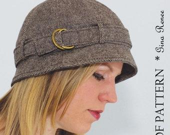 Women's Hat Pattern.  Hat Pattern.  Short brim Hat PDF Sewing Pattern