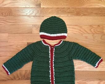 Happy Holiday Baby Sweater Set