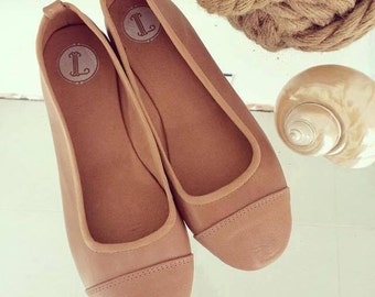 LUNAR- Ballet Flats - Leather shoes - 37- Latte. Available in different colours & sizes