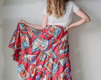 vintage Wild West maxi skirt