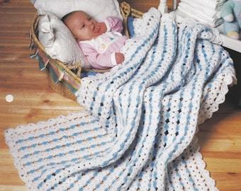 Gumdrop Stripes Baby Afghan, The Needlecraft Shop Crochet Pattern Leaflet 942060