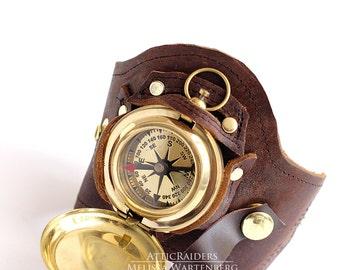 Leather Cuff , Steampunk Cuff , Holster Cuff , Travel Gifts , Steampunk , Watch Strap ,Pocket Watch , Watch Holder , Steampunk Bracelet
