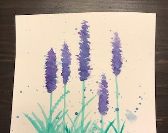 Small watercolor flower painting - original