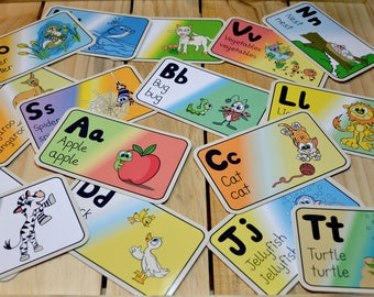 Alphabet Flash Cards For Children Learn The ABCs