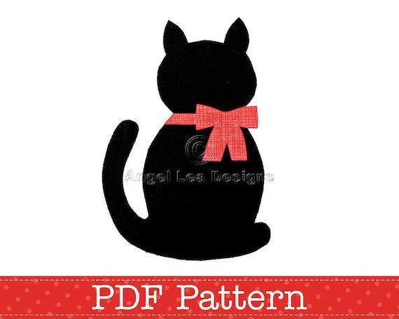 cat applique template kitten template animal diy children