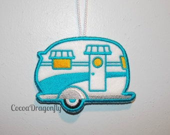 Camper Ornament, Travel Trailer, RV, Christmas Ornament, Pick a Color