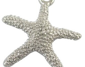 10 pieces Starfish Tibetan Silver Alloy Charm Pendants - A0223
