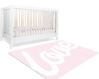 Pink Rug, Love Sign, Rug, Pink Nursery Rug, Love Decor, Teen Bedroom Decor, Pink and White Nursery, Rugs For Nursery, Pink Bedroom Decor