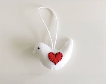 Love Dove Hand Embroidery | Dove Accent | Dove Home Decor | Nursery Decor | Door Knob Decor | Wedding Favors | Dresser Pull Decor