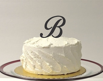 MADE In USA, Letter B Personalized Wedding Cake Topper, Monogram Cake Topper, Simple Beautiful Wedding Cake Topper, Any Letter Cake Topper