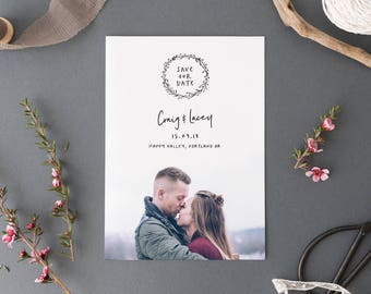Engagement Photo Save the Date, Photo Save the Date, Personalised Save the Date, Custom Save the Date