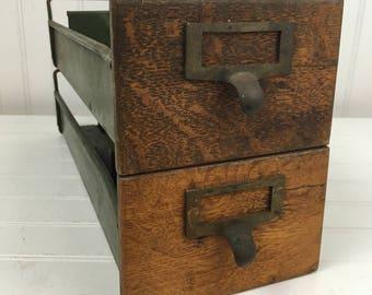 Vintage cole steel map cabinet 11 drawer blueprint cabinet vintage metal and wood card file drawers set of 2 drawers malvernweather Gallery