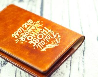 Passport cover Leather passport holder Groomsmen gift Passport wallet Wonderlust  passport cover Travel wallet Personalized monogram